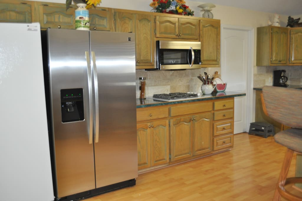 New stainless refrigerator, microwave and dishwasher installed May 2015