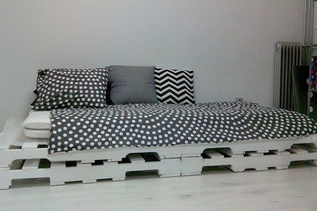 sofa-bed with Ikea Foam