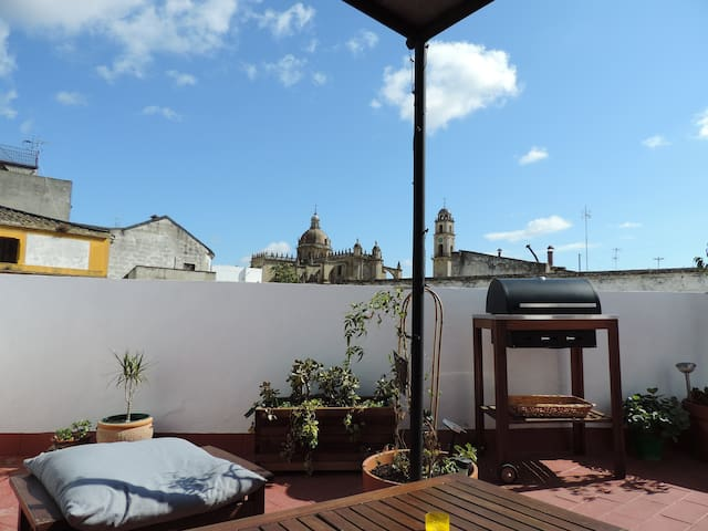 Casa Barranco: private rooftop with Cathedral view