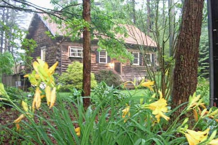 Traditional Log House Near Cape Cod