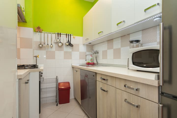 Kitchen with all aplicants