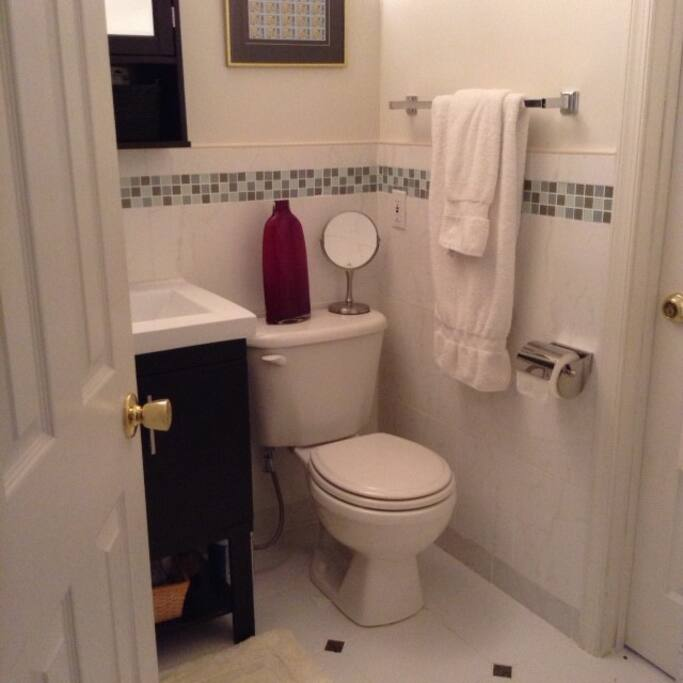 Private full bathroom with shower