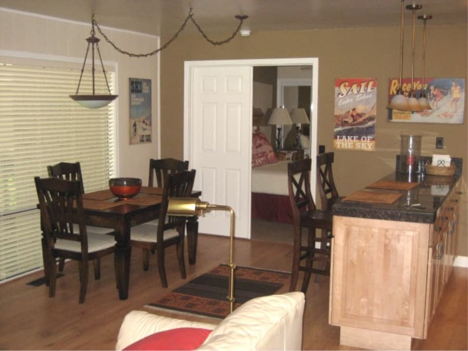 Dining & entrance to master bedroom.