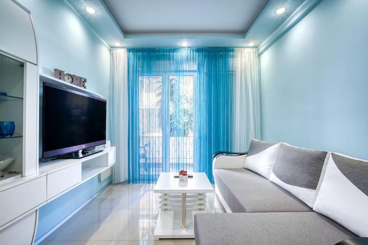 Unique 2bd apartment at Athenian Riviera