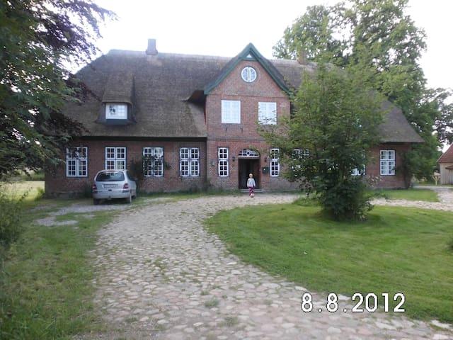 Idyllische Reetdachhaushälfte 280qm - Wangels