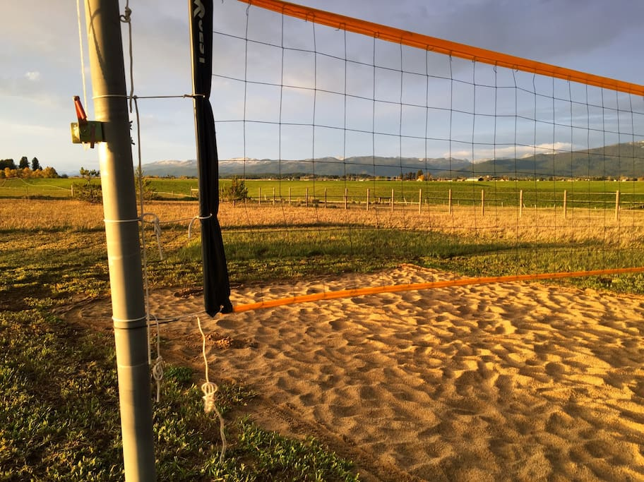 Private volleyball court
