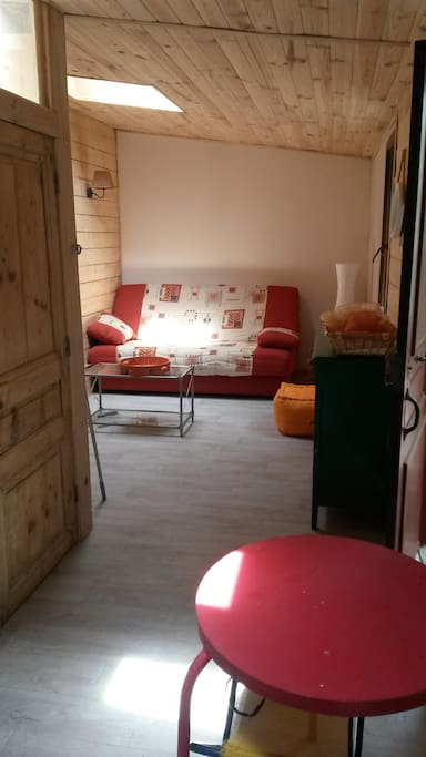 Maison charmante avec jardin houses for rent in lyon for Salon qui se transforme en chambre