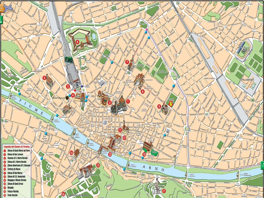 La piantina del nostro centro storico dove si trova la nostra Casa