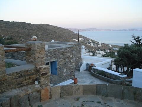 Tinos Aegean Balcony Amazing view