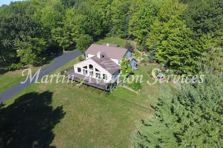50 Acre Private Estate,5BR3.5ba, waterfalls more - Horseheads - Villa