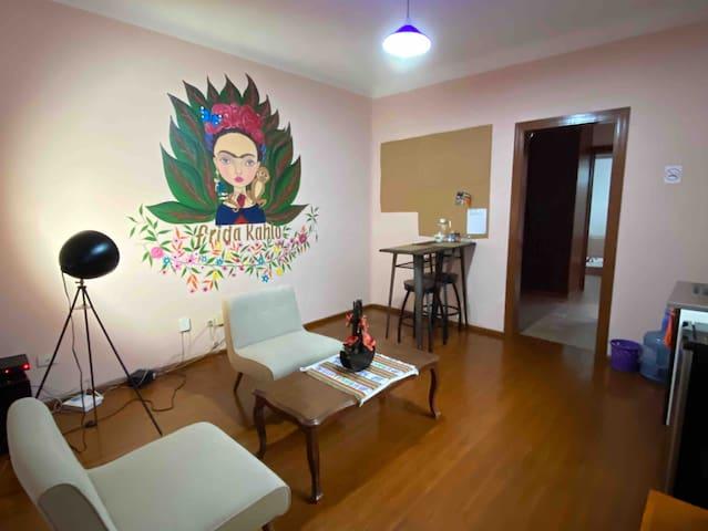 Frida Kahlo studio in blue house near city centre