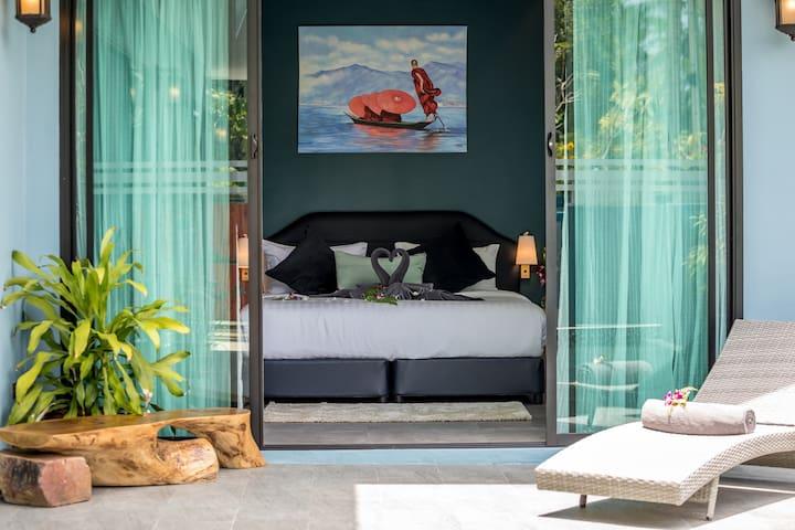 Villa Baan Kluay Mai. Poolside bedroom