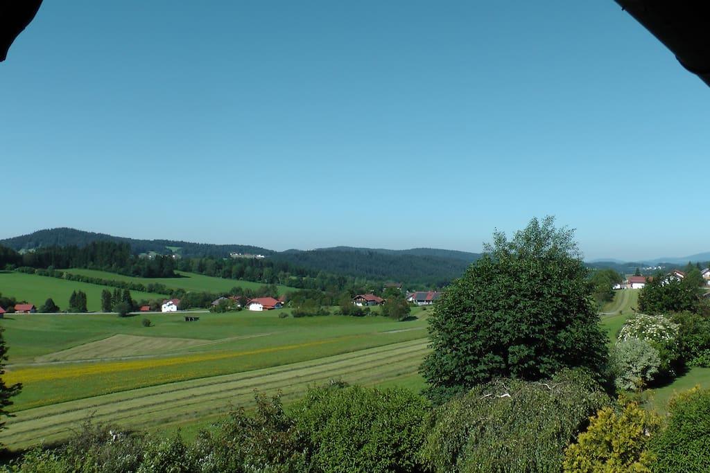 Ausblick Südwest-Balkon (Sommer 2016)