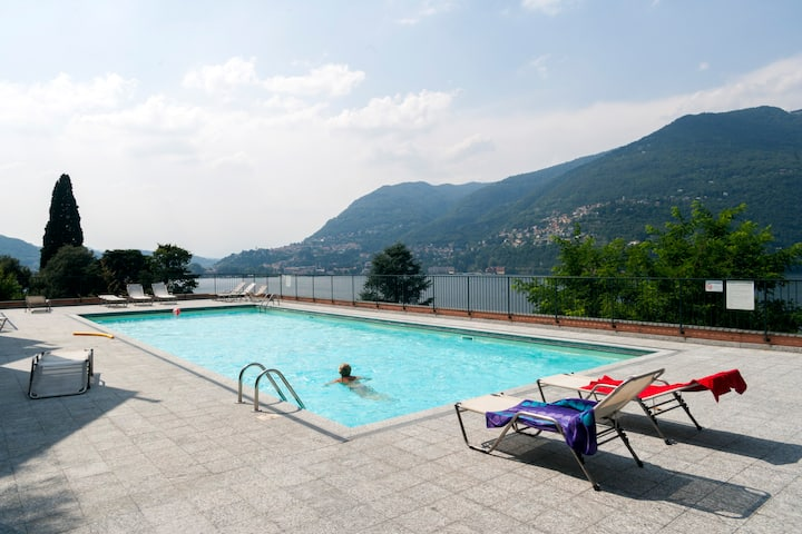 Flat with pool in Blevio -Como lake