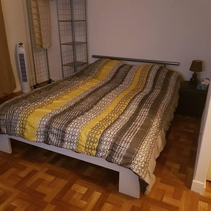Chambre avec kitchnette et balcon