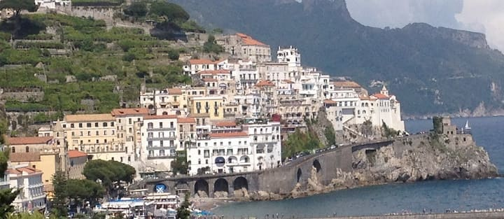 Great View on Amalfi and the sea