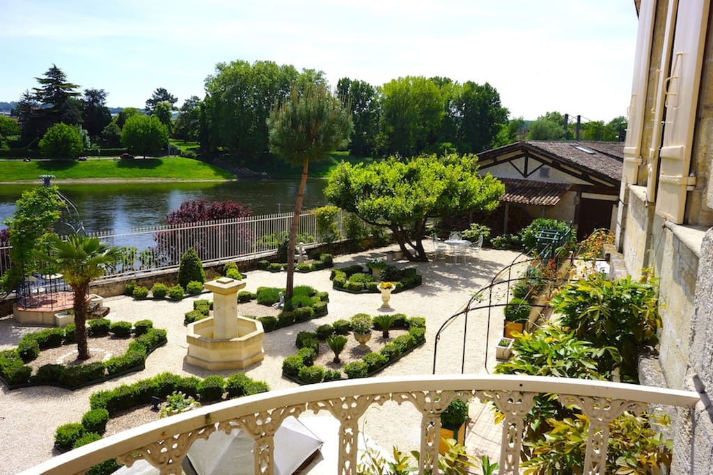 French Garden and River Views