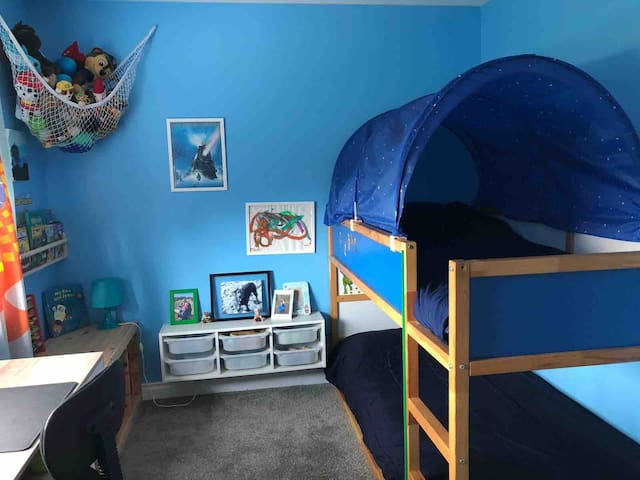 Fourth bedroom with bunk bed.