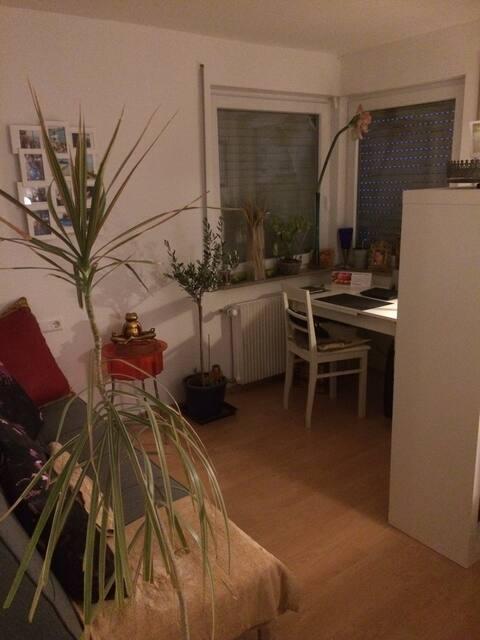Das ist das Gästezimmer für meine Gäste (private Sachen von mir räume ich so gut wie möglich alle weg)
