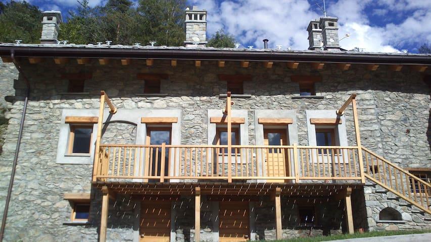 Vacanze relax in campagna Chez Mémé - Montjovet - Byt