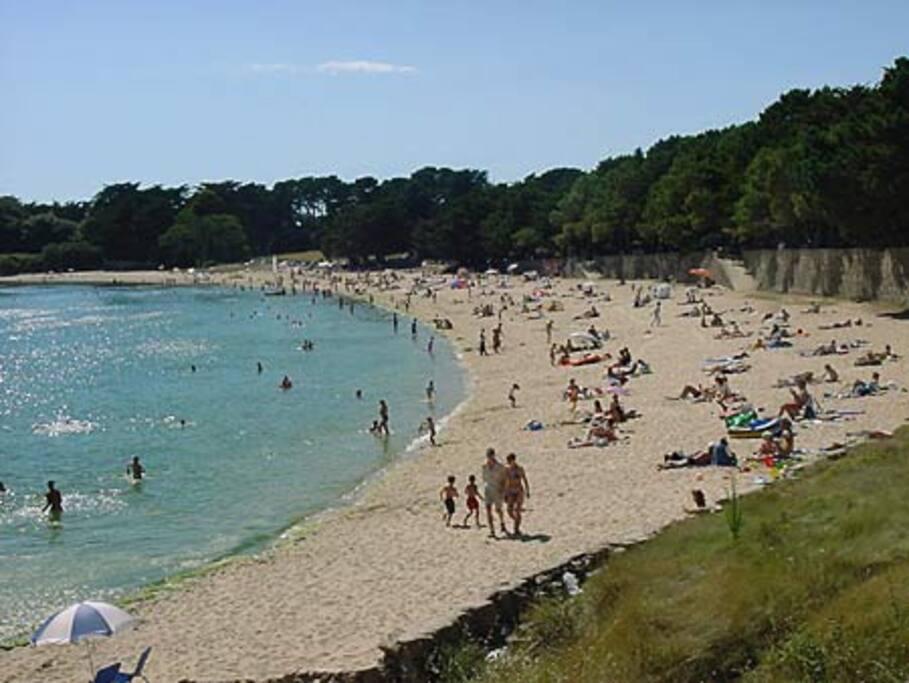 belle plage abritée à proximité