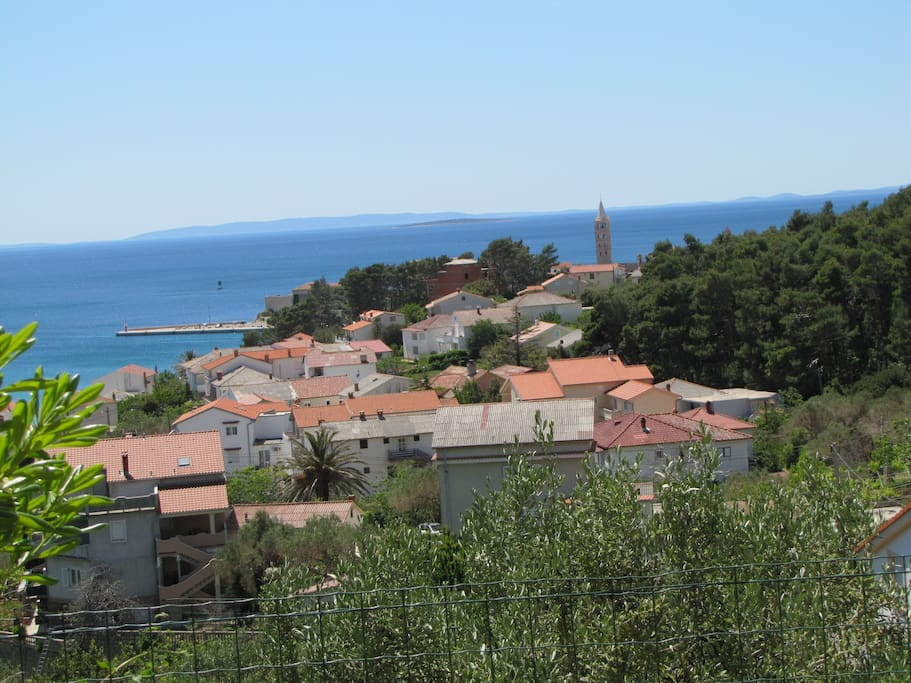 Panorama of the old town of Rab