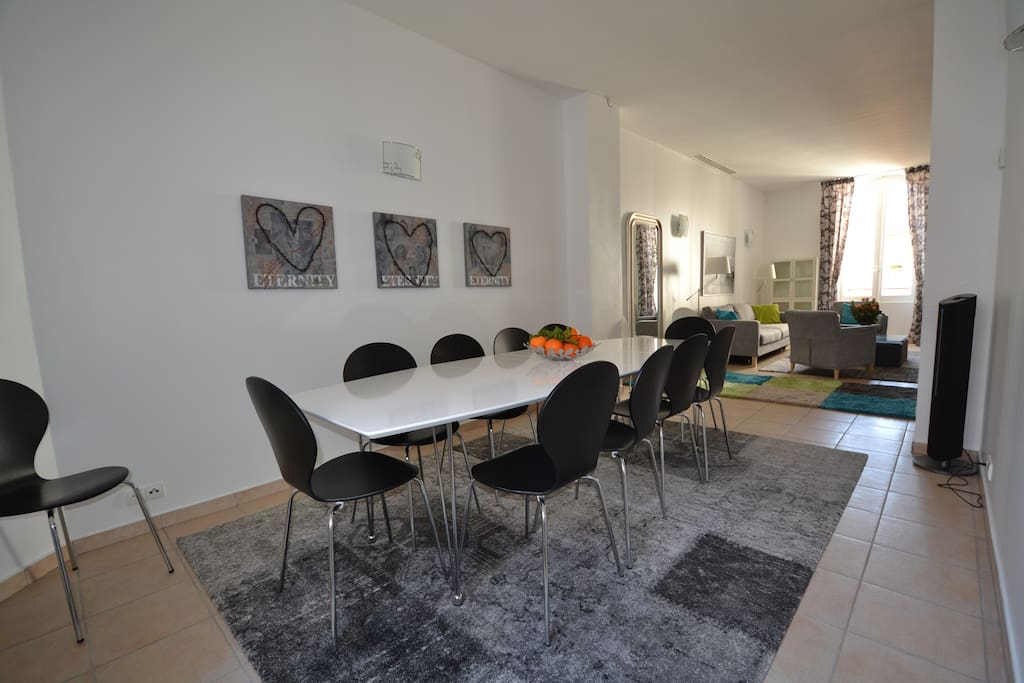 Dining area for at least 12 people