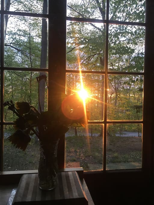 Sunrise from dining room.