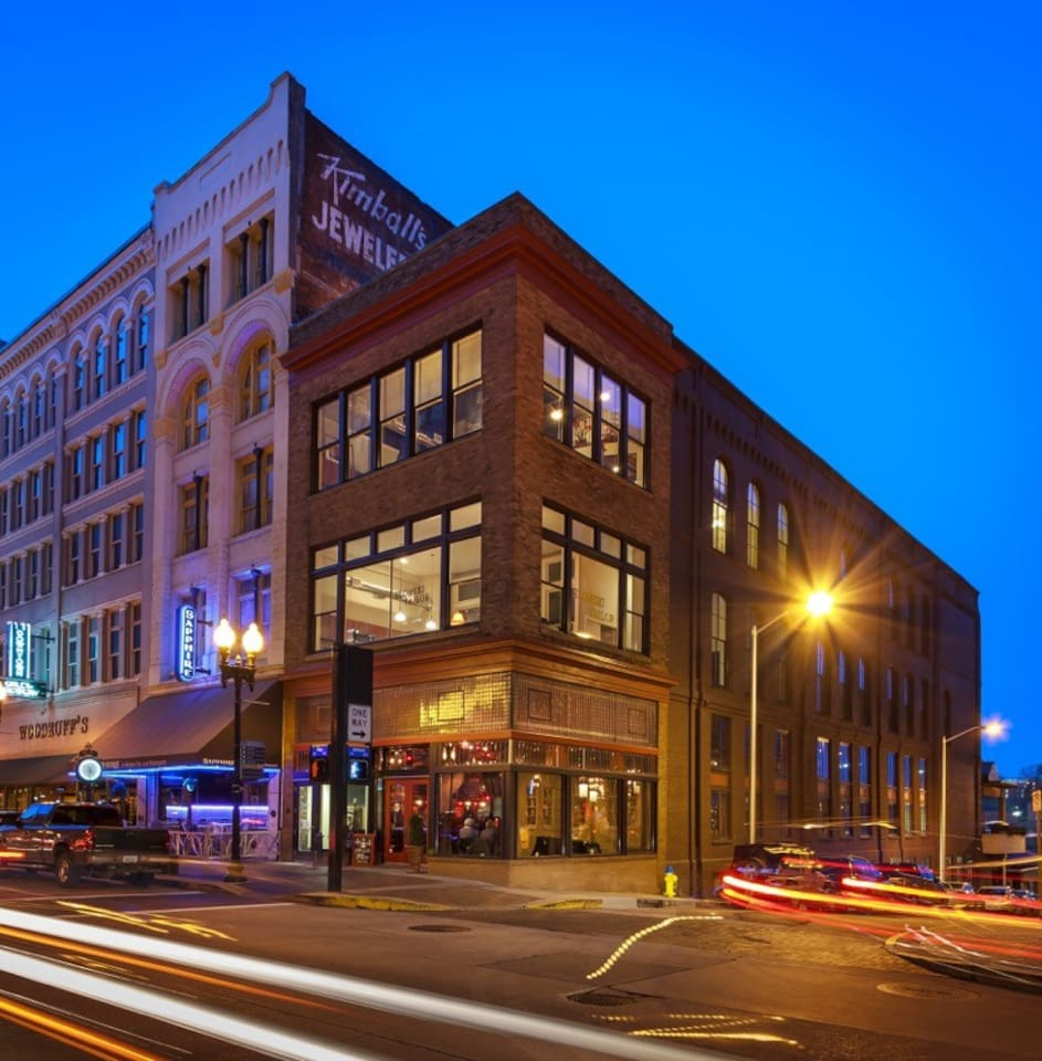 Tailor Lofts -- Your apartment is on the top floor with large windows for taking in all the action on Gay Street.
