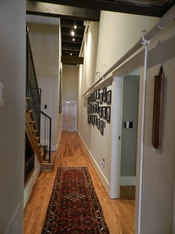 Entry into the loft.