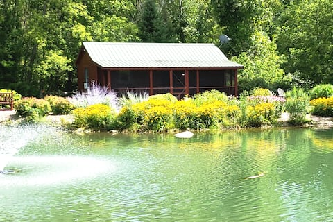 Cabin on the pond