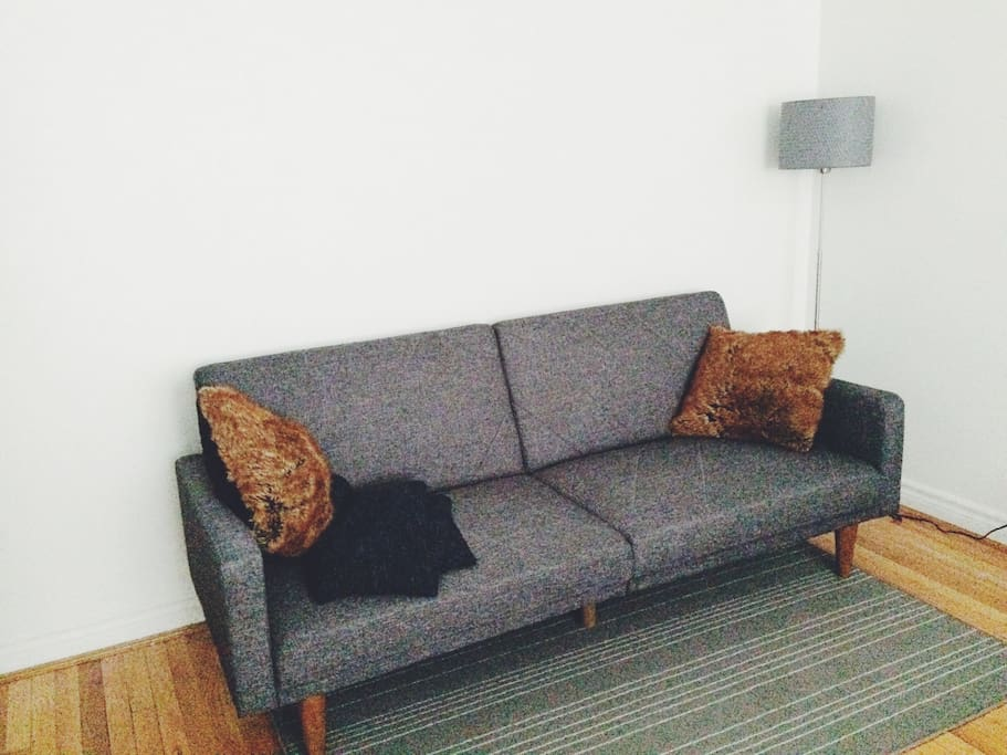 A sofabed that converts into a bed