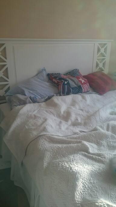 180 cm wide bed.