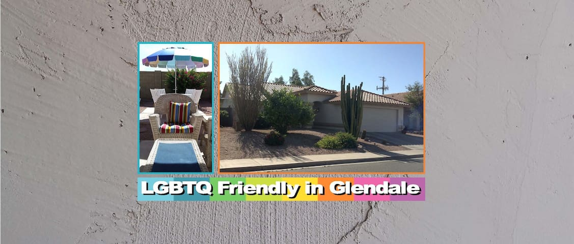 GAY FRIENDLY ROOM/PRIVATE BATH  - Glendale - Casa