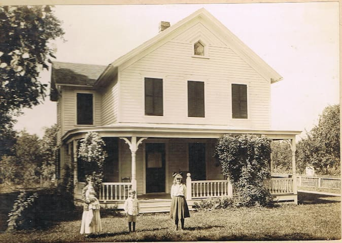Photo found during renovations.  We also found a 'time capsule' that the builder put in the ceiling of the wrap around porch.  Built in 1909 for $2200.  He made a profit of $600.  Very interesting piece of history.