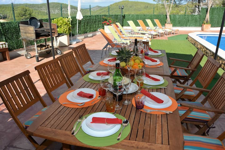 Outside Dinner Area. For 14 people.