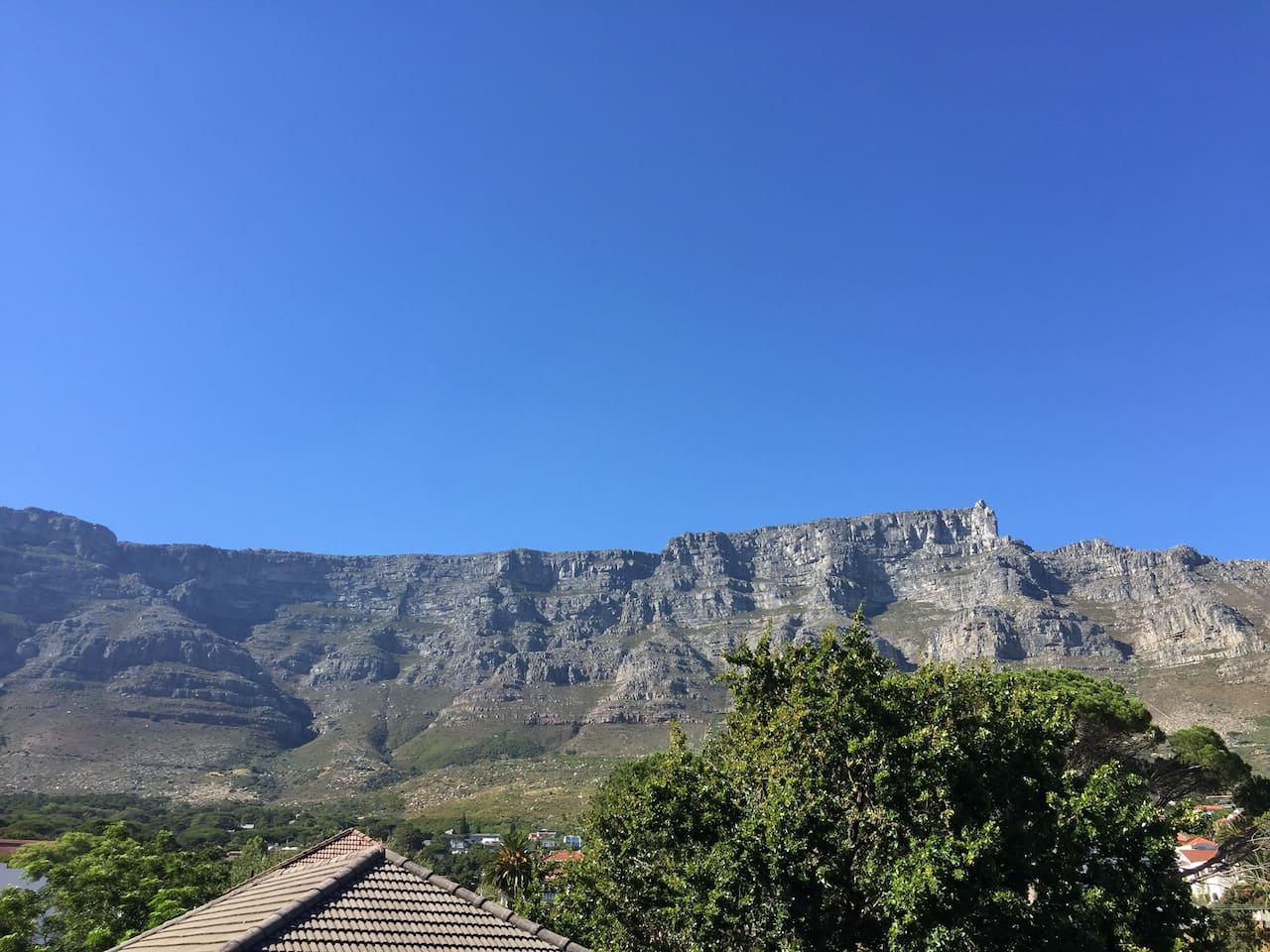 View from my front door of Table Mountain.