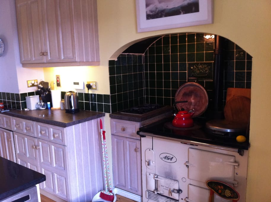 The Aga is the heart of the kitchen