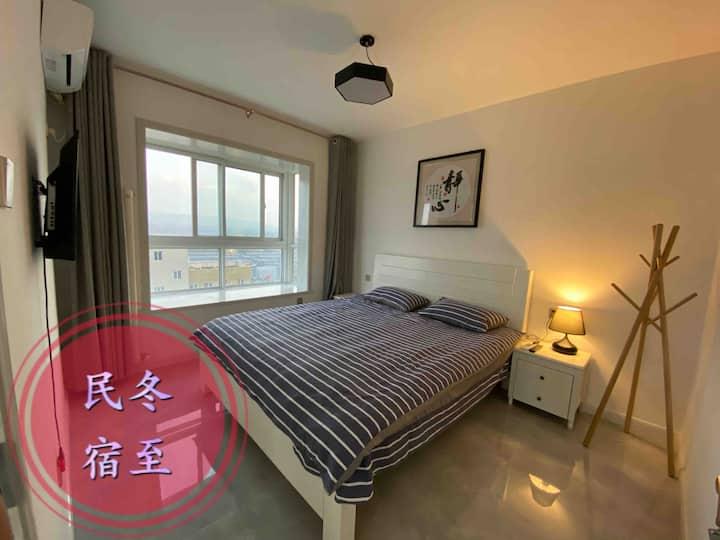 韩风装修整套两室一厅一厨一卫可做饭,洛阳师范学院旁,日租,短租民宿