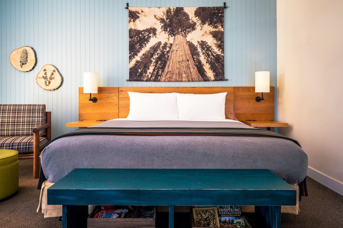 Our Lodge Rooms are designed to comfortably fit parties up to 4 people.  All Lodge Rooms feature a stylish sitting area, private deck, king bed and queen sofa bed, and private bathroom with shower.