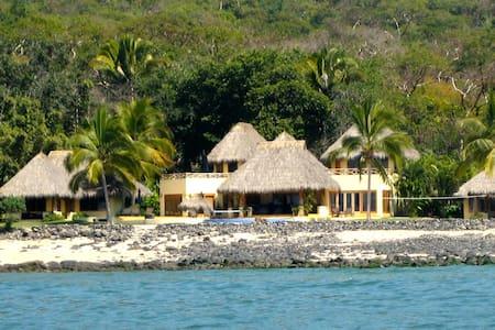 luxury beach house Casa Palapas at Marina Chacala - Chacala
