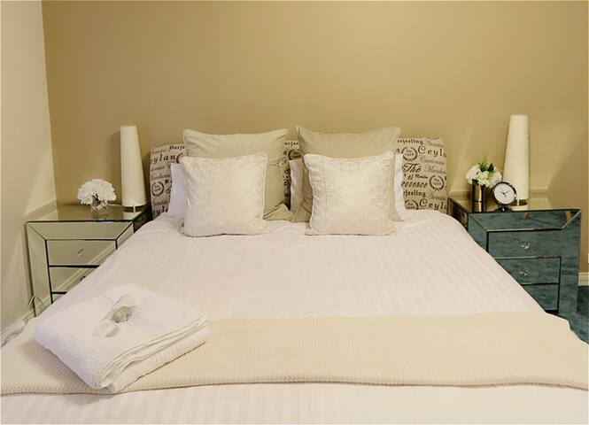 Large King Size Bed with Super Comfy Mattress