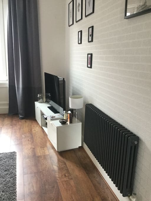 Large tv with sky