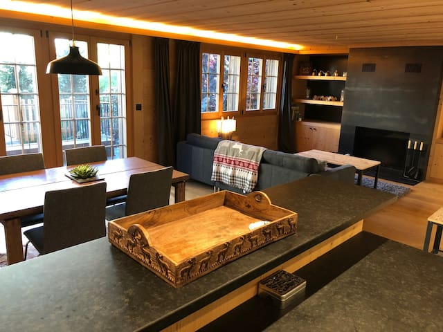 High-end, modern, cozy apartment in Saanen