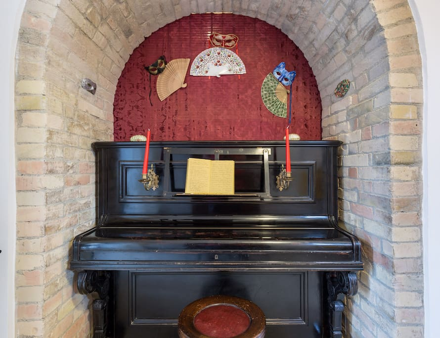 The grandma's piano
