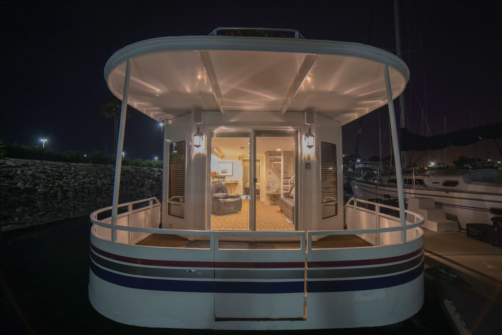 Front of houseboat