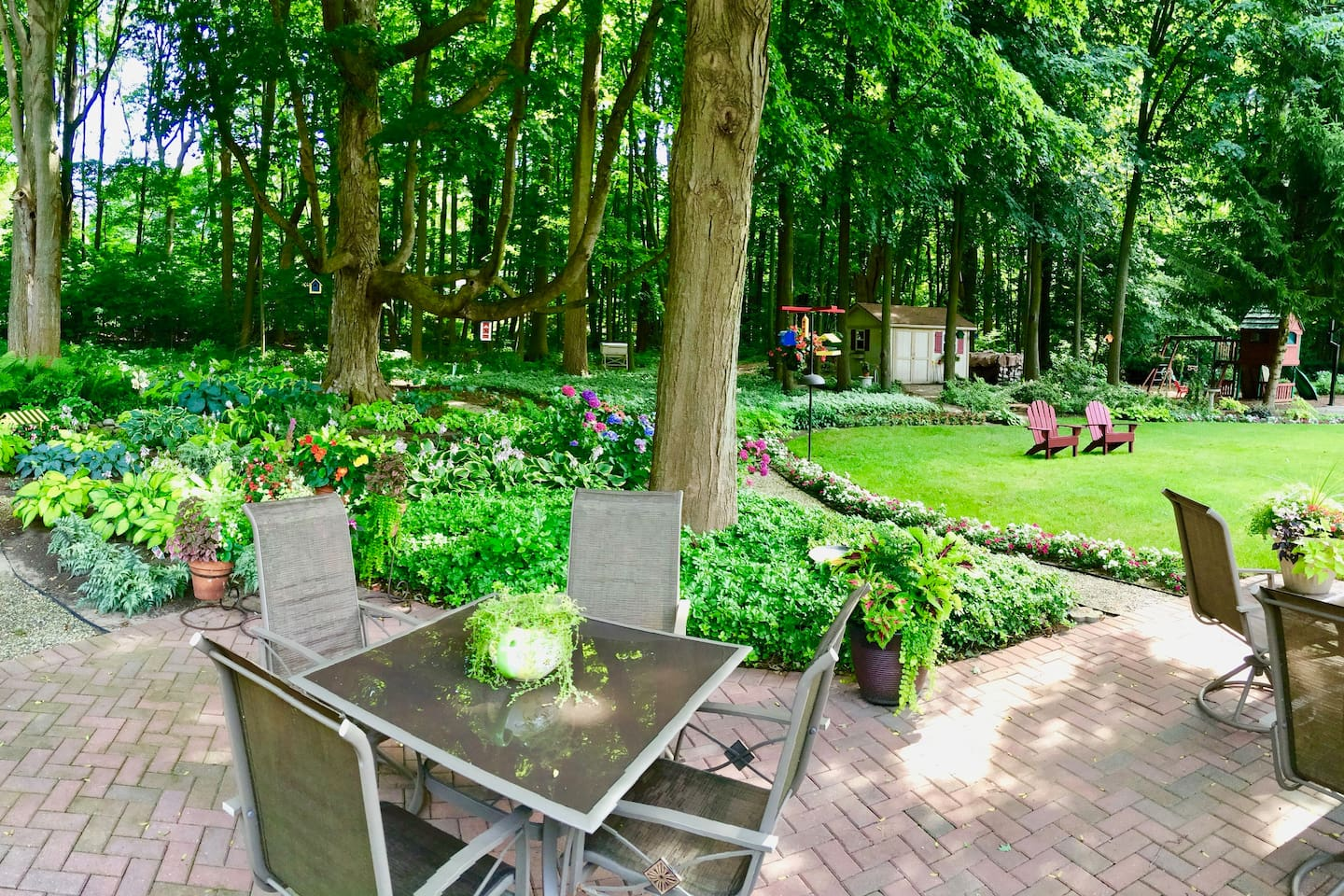 Our backyard in the summer