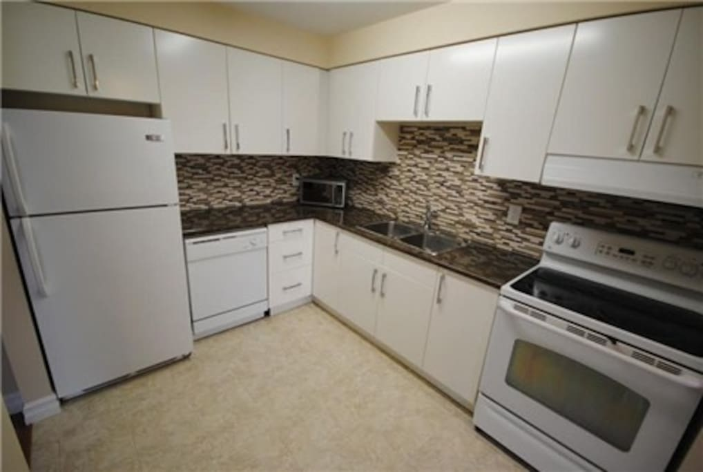 Shared kitchen space. Clean and fully renovated.