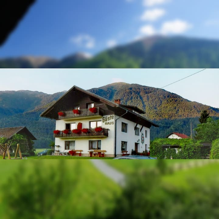 Guesthouse Schoba: near NASSFELD SKI Resort 4P