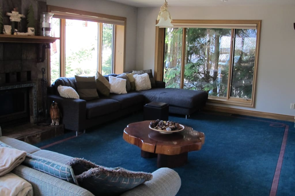 Large bright living area with lots of room for relaxing.